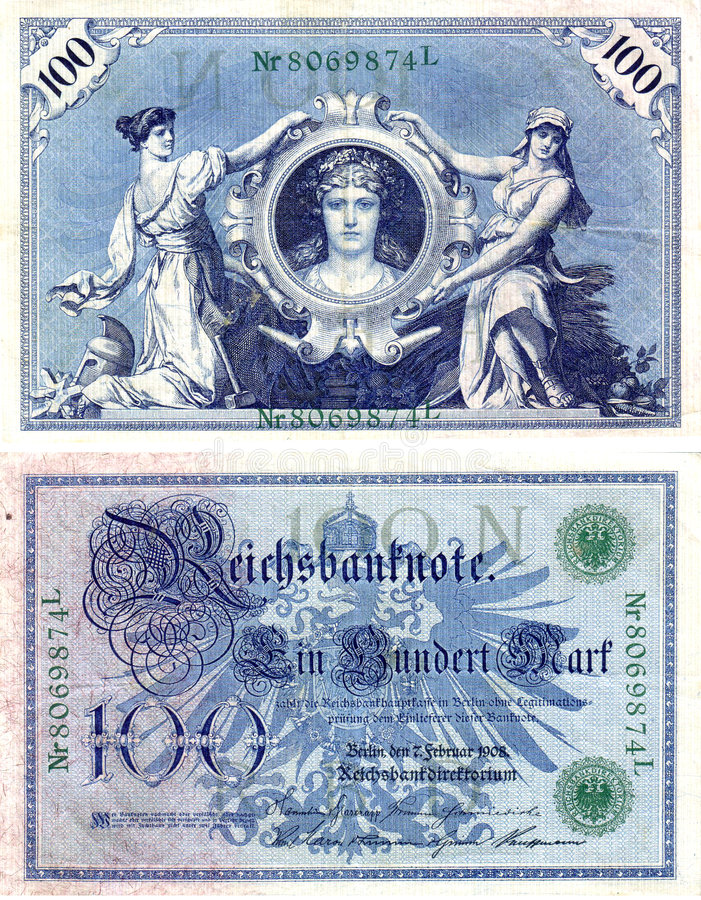 Old German money 2 stock images