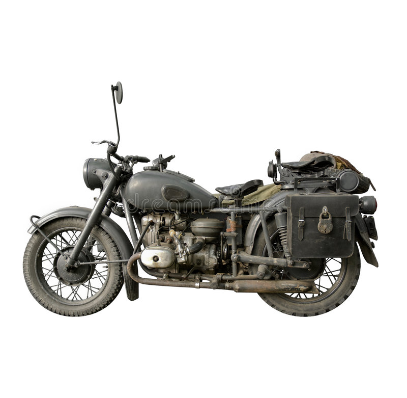 An Old German Motorbike royalty free stock photos