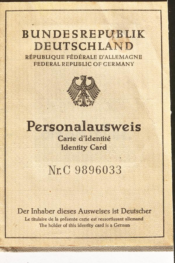 Old German Passport document royalty free stock images