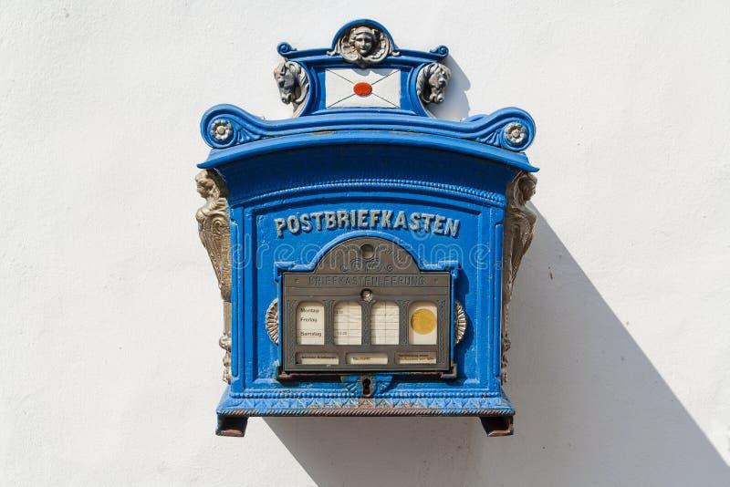 Old German Public Mailbox Royalty Free Stock Photos