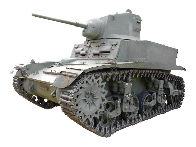 Old German tank. The model of old German tank WW2 on a white background.Avalaible in PNG format with transparent background royalty free stock photography