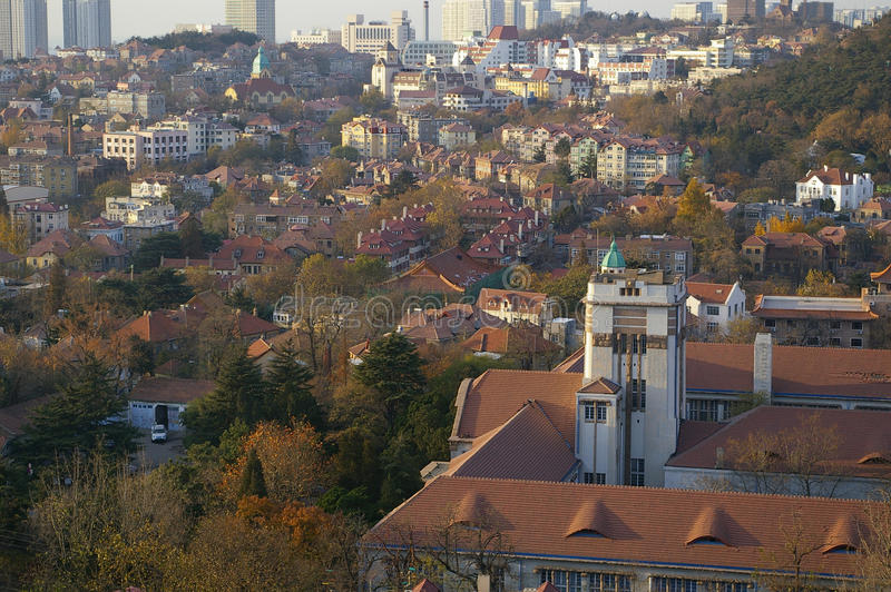 The old German town. In Qingdao, China royalty free stock image