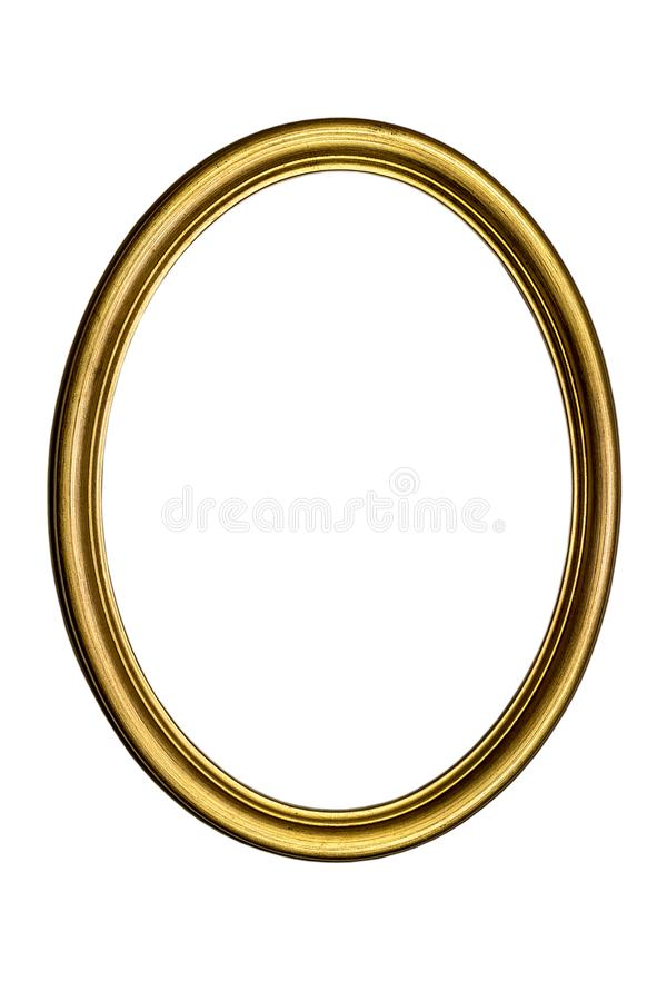 Free Old Gilded Oval Picture Frame Royalty Free Stock Photos - 168319158