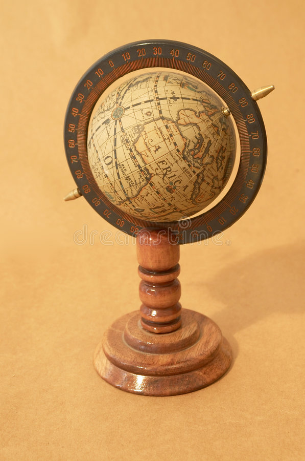 Old globe royalty free stock photography