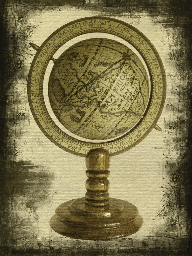 Old globe royalty free stock images