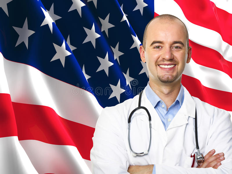 Download Old Glory Flag And Doctor Royalty Free Stock Images - Image: 18931649