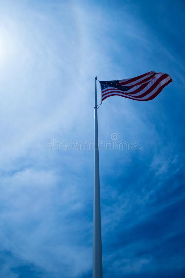 Old Glory at Four Corners National Monument royalty free stock photography