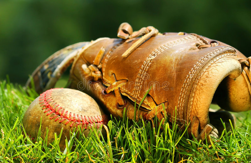 Download Old glove and baseball stock photo. Image of ball, leather - 2870696