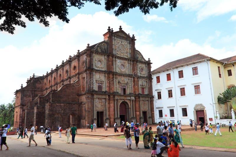 Old Goa church, India tourism stock photos