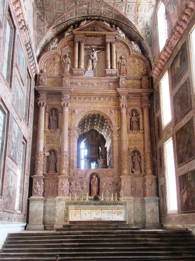Old Goa and its churches. / Goa South India royalty free stock photography