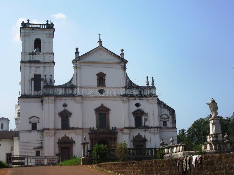Old Goa and its churches. / Goa South India stock image