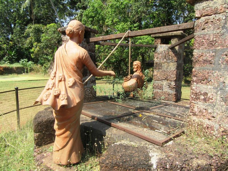 Old Goa and its churches. / Goa South India stock images