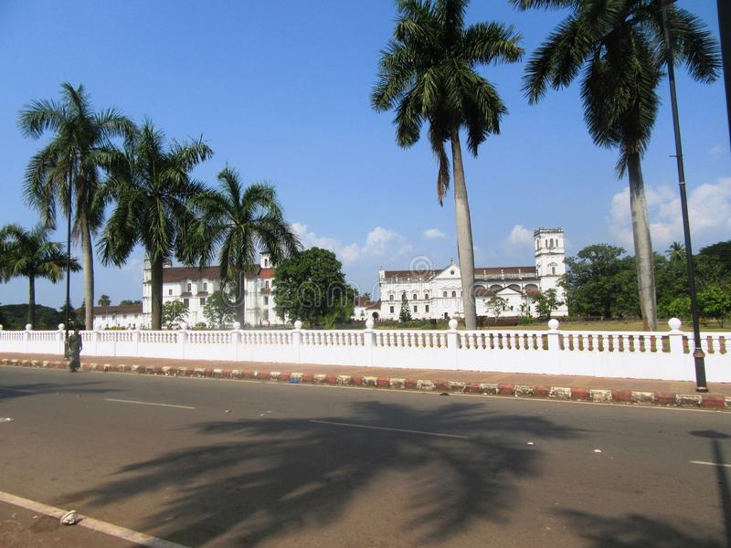 Old Goa and its churches. / Goa South India royalty free stock image