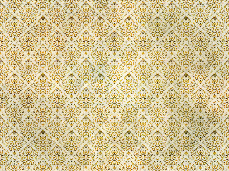 Old gold damask wallpaper - Old Gold Damask Wallpaper Stock Photography - Image: 16733582