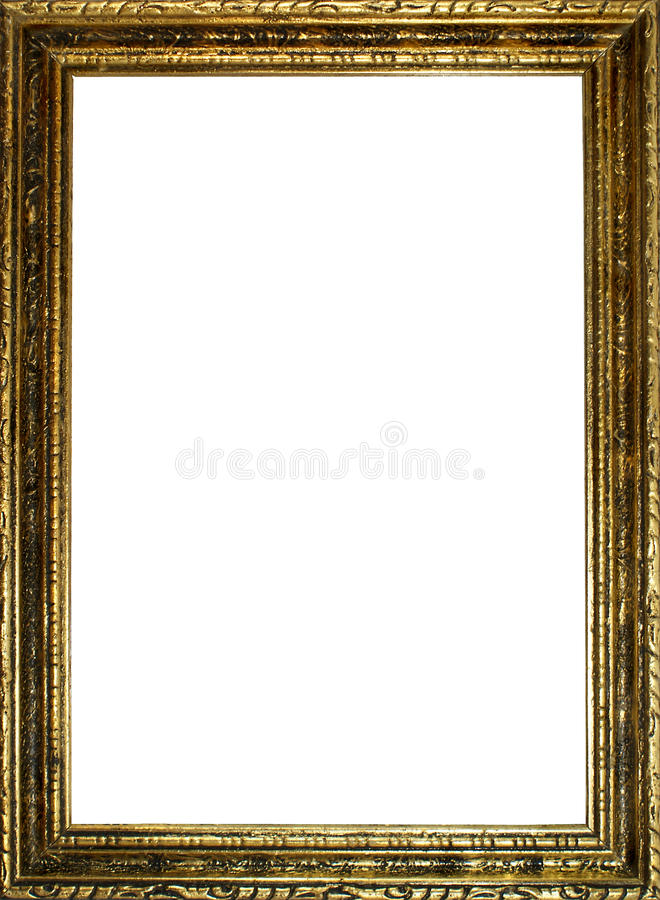 Download Old gold frame stock image. Image of blank, photograph - 17161945