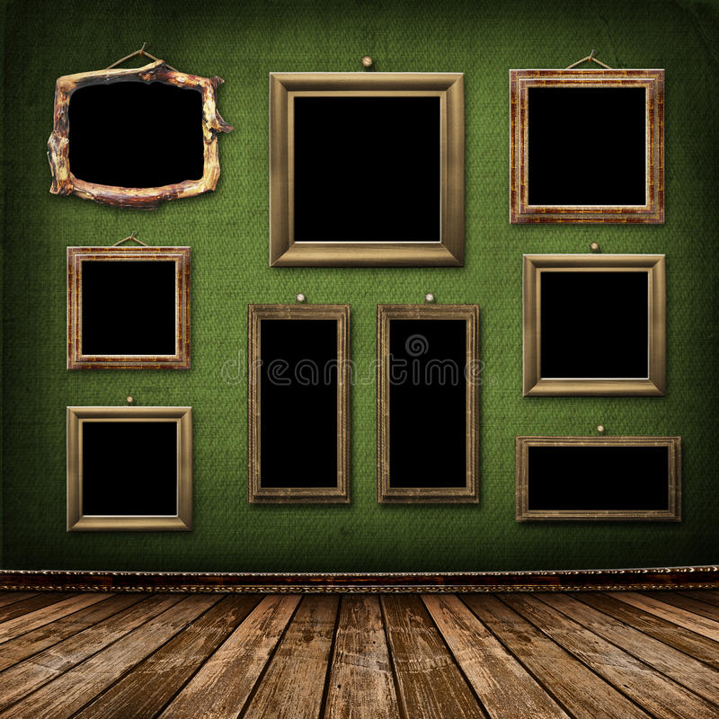 Old gold frames Victorian style stock illustration
