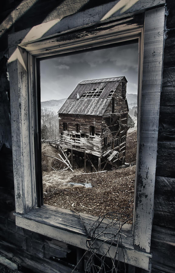 Download Old Gold Mine In Colorado, View Out Of The Window Stock Image - Image: 20064971