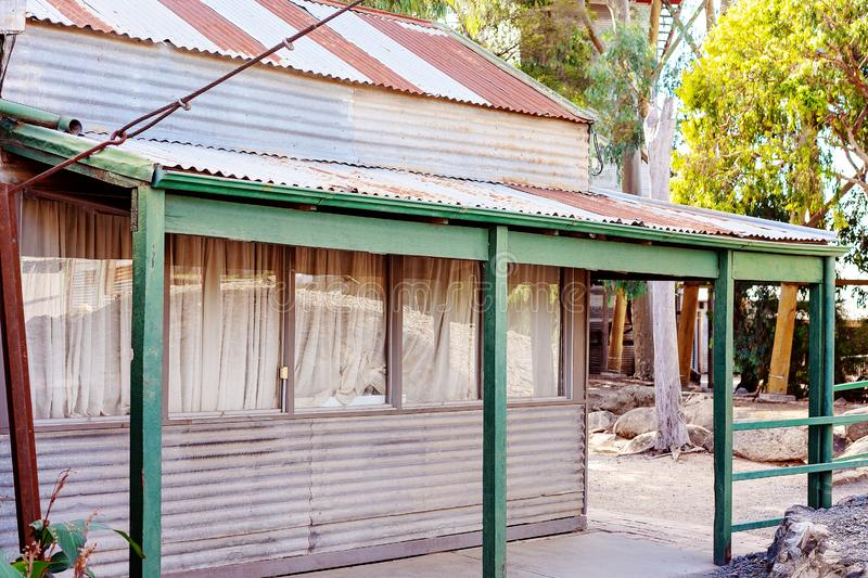 Old Gold Miners Cottage On The Goldfields stock images