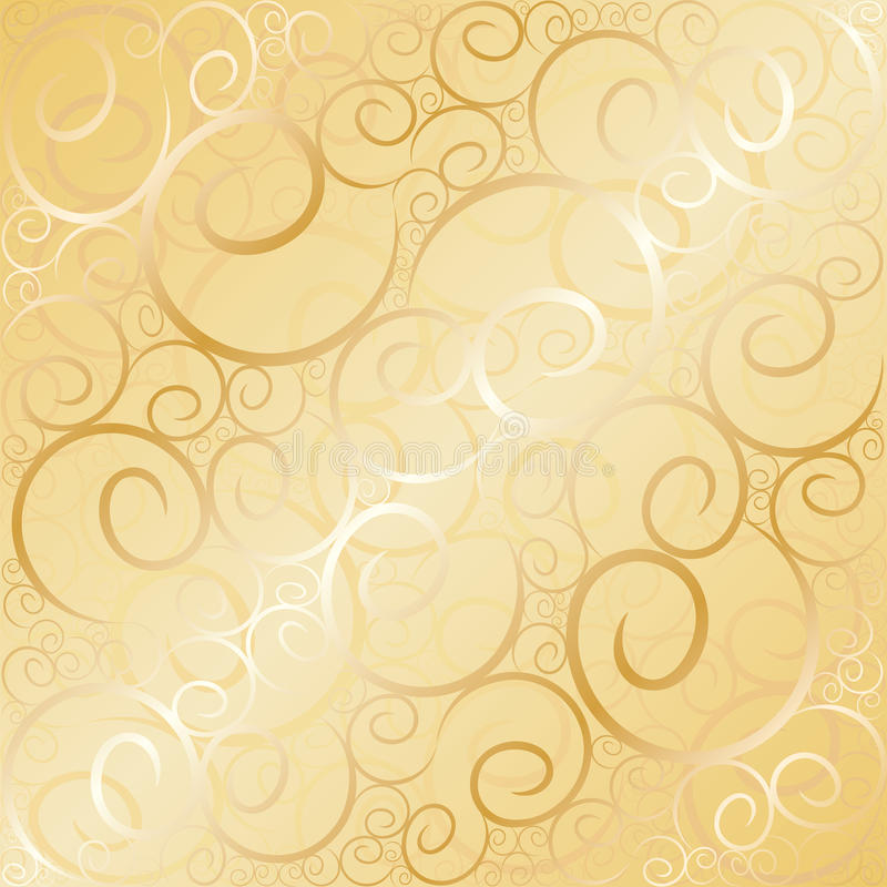 Free Old Gold Swirl Royalty Free Stock Images - 11539299