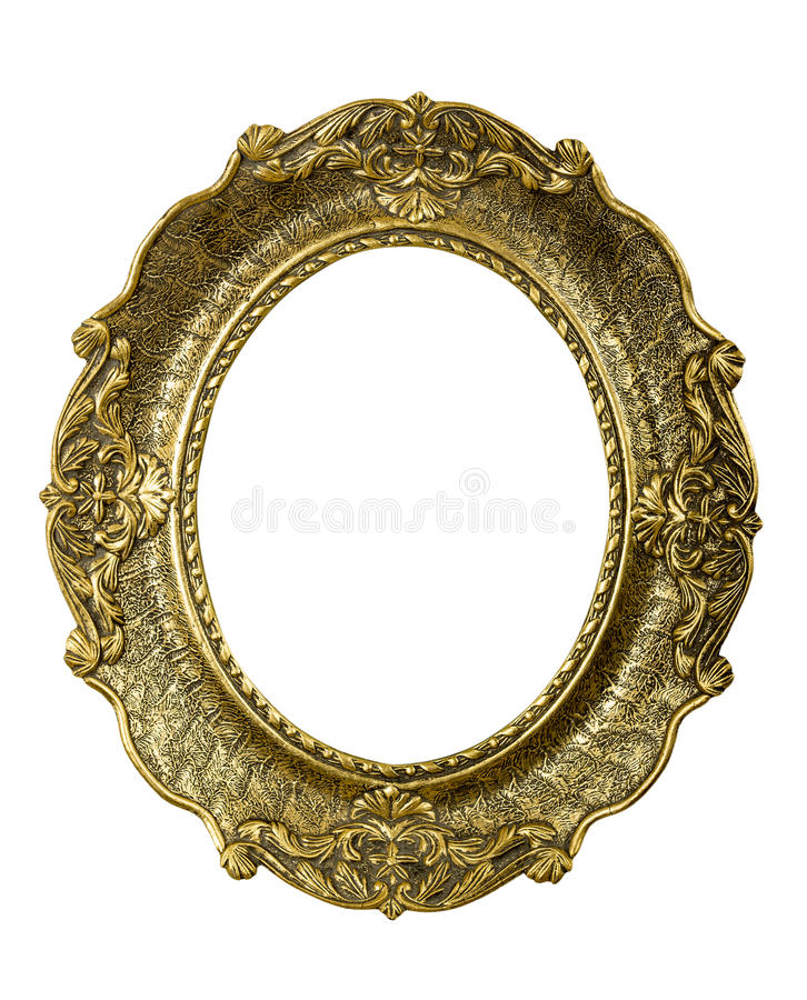Download Old Gold Vintage Picture Frame On White Stock Image - Image: 36627879