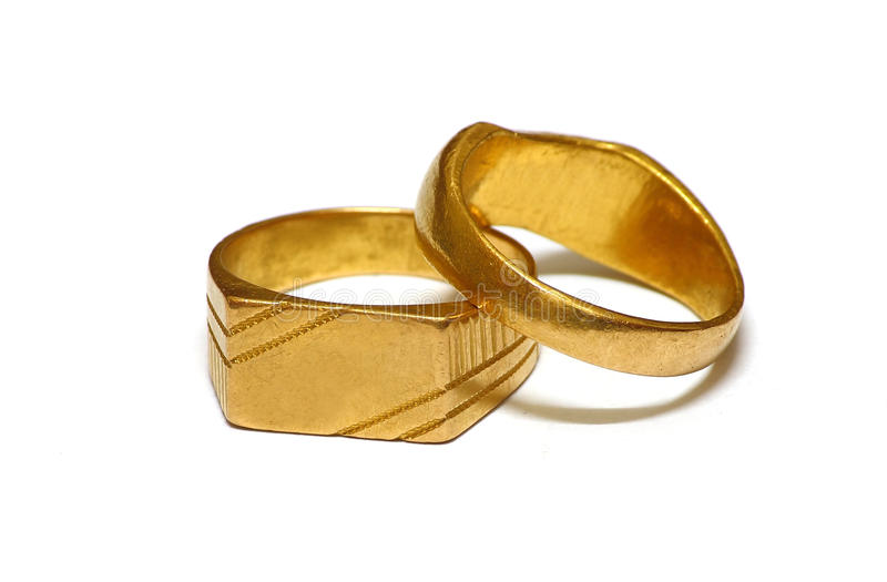 Old Gold wedding rings stock photo Image of jewel experience