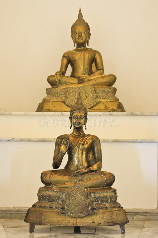 Download Old golden buddha statue stock photo. Image of thailand - 14726044