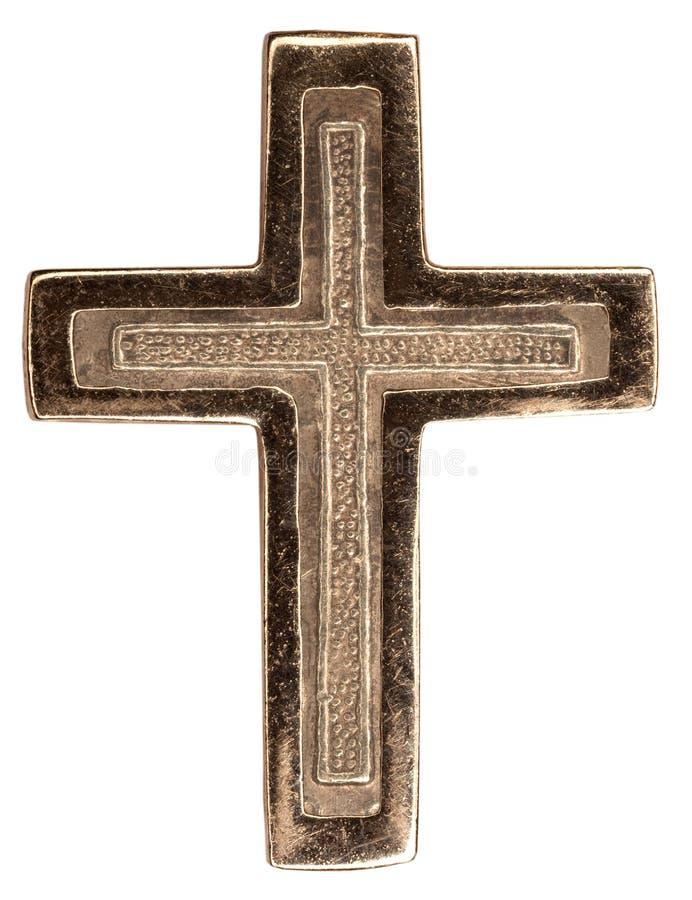 Old golden cross stock image