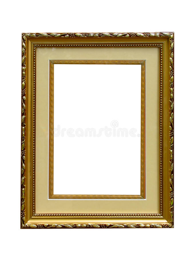 Download Old Golden Empty Picture Frame Isolated Stock Illustration - Illustration of exhibition, modern: 11387072