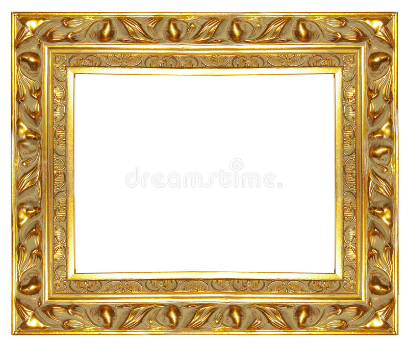 Old golden frame stock photo. Image of gold, classic - 3883758