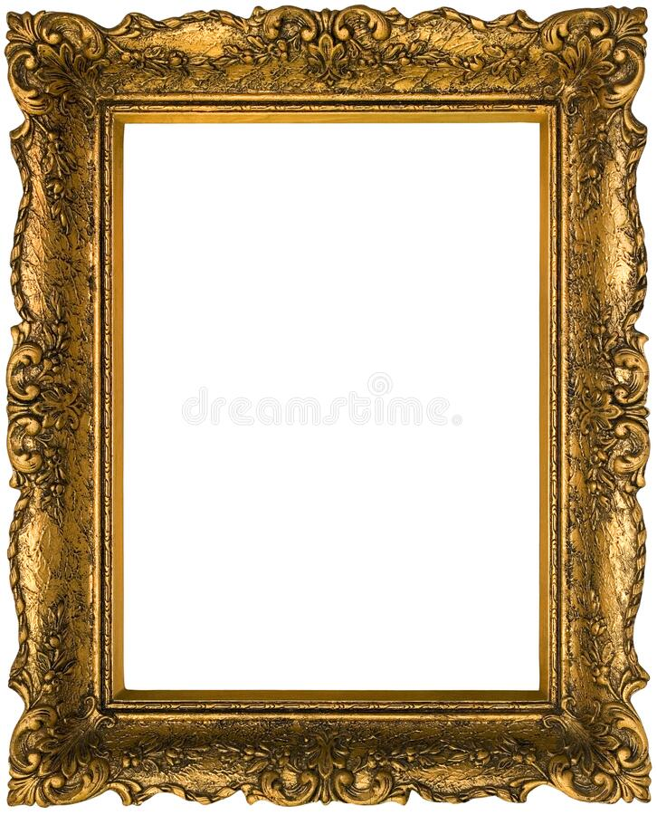 Old Golden Frame Cutout stock photography