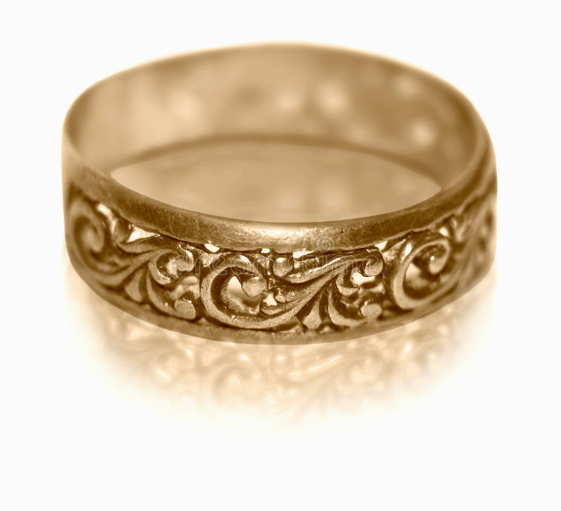 Old golden ring stock photo. Image of ring, retro, beauty - 7421064