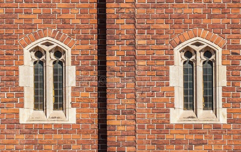 Old gothic windows stock photo