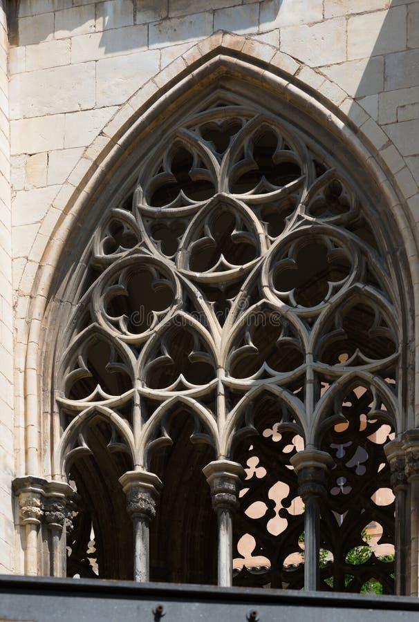 Old gothic windows of episcopal Palace royalty free stock photos