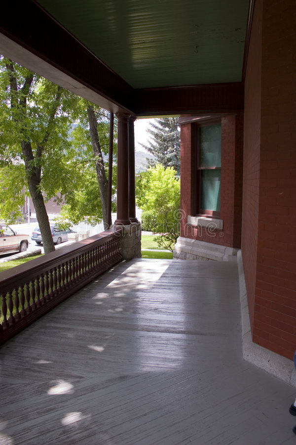 Old Governer's Mansion in Helena Montana. Front Patio of Old Governer's Mansion in Helena Montana stock photo