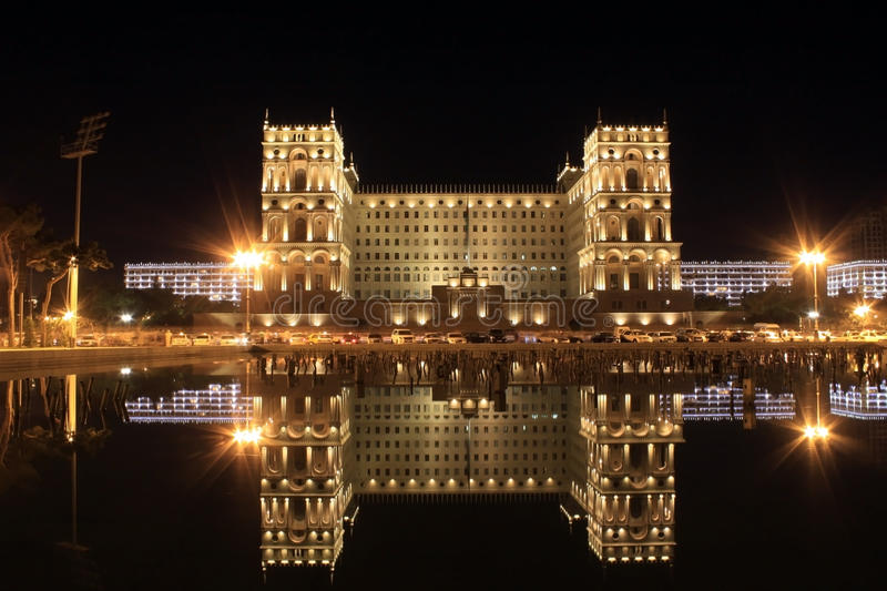 Download Old Government House In Baku Stock Photo - Image of night, azerbeycan: 18963470