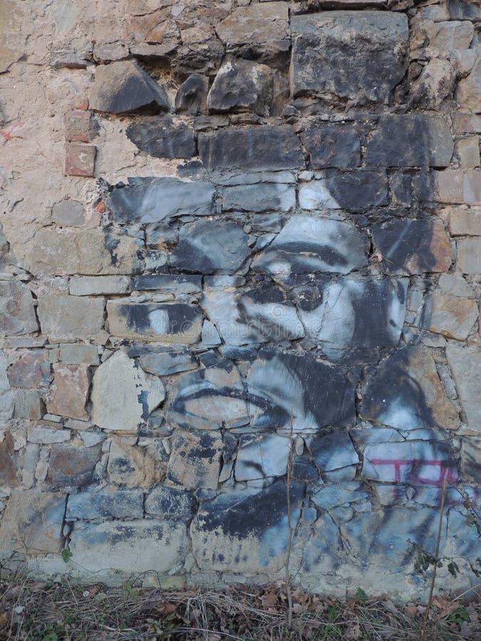 Boxing Legend Graffiti. Old graffiti reminding of a boxing legend Muhammad Ali stock photography