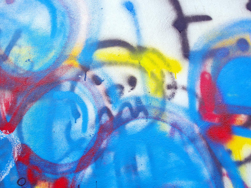 An Old Graffiti Wall Background. Close up of graffiti Wall Background royalty free stock photography