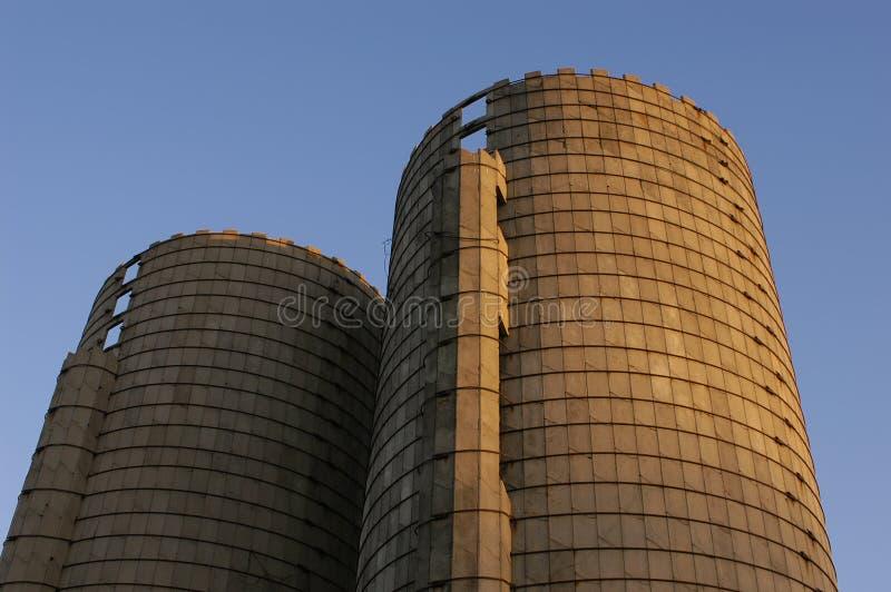 Old Grain Silos Stock Photography