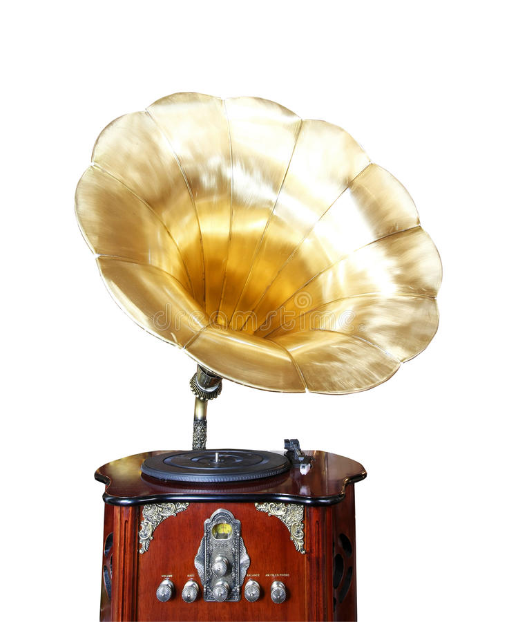 Download Old gramophone stock image. Image of clipping, isolated - 20446439