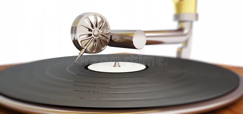 Download Old gramophone stock illustration. Image of grunge, retro - 28255357