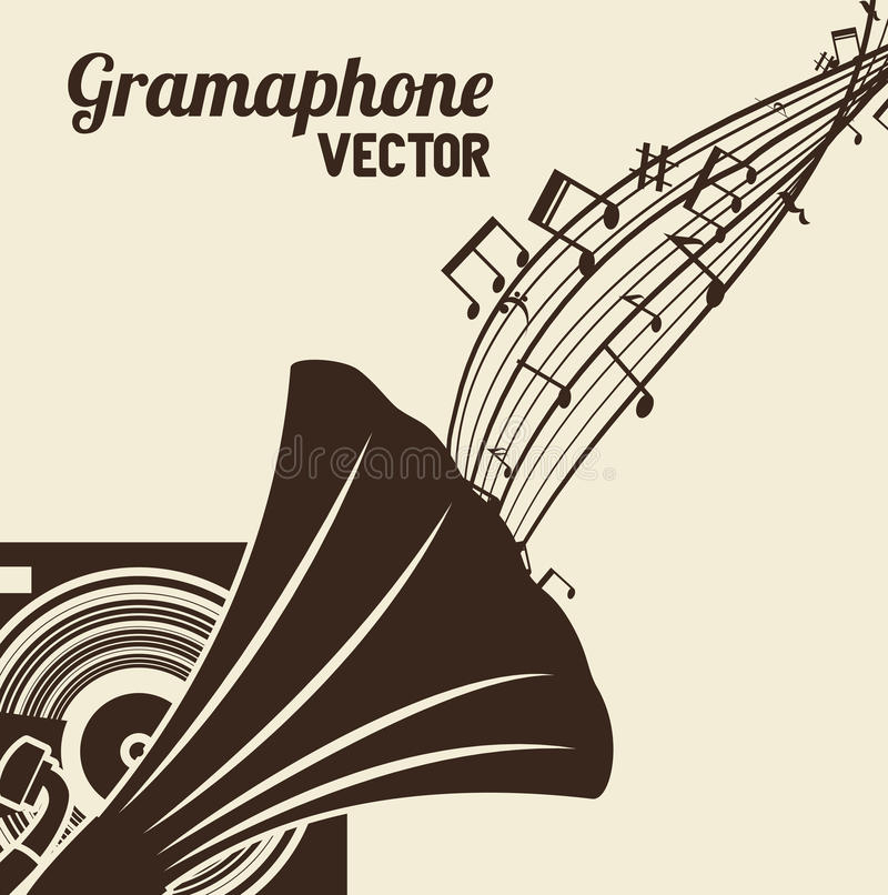 Old gramophone isolated icon design. Illustration graphic royalty free illustration