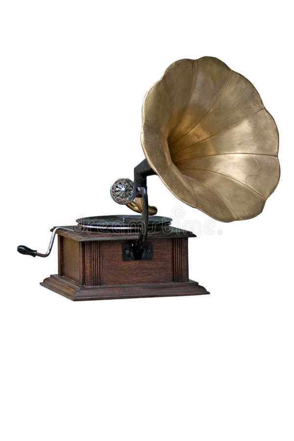 Free Old Gramophone Isolated On White Background Royalty Free Stock Photos - 14110788