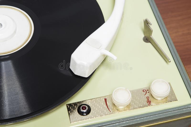 Old gramophone royalty free stock photo
