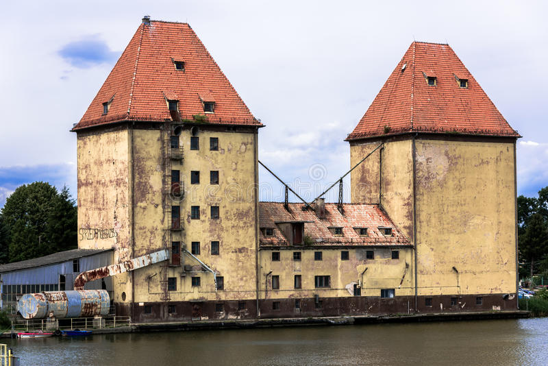 Old granary in Wolin stock photos