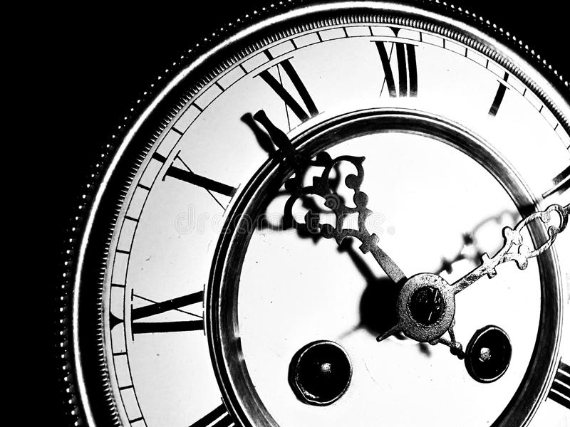 Old grandfather clock stock photo