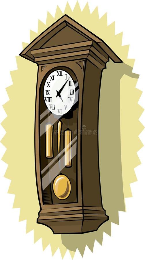 Old Grandfather clock vector illustration