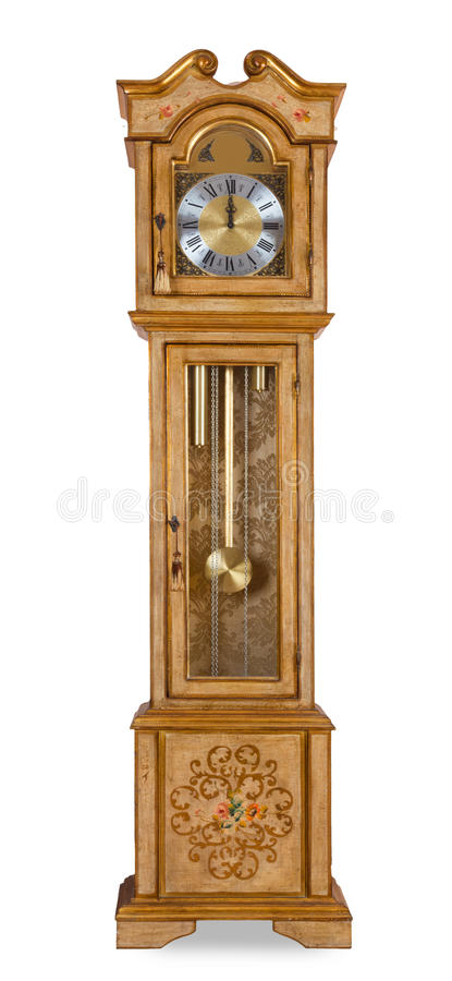 Old grandfather clock royalty free stock photography
