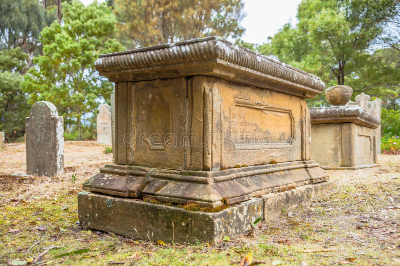 Old grave stock images