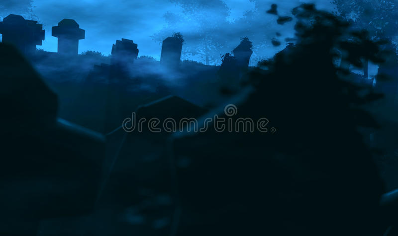 Download Old graveyard at night stock photo. Image of cemetery - 61718042