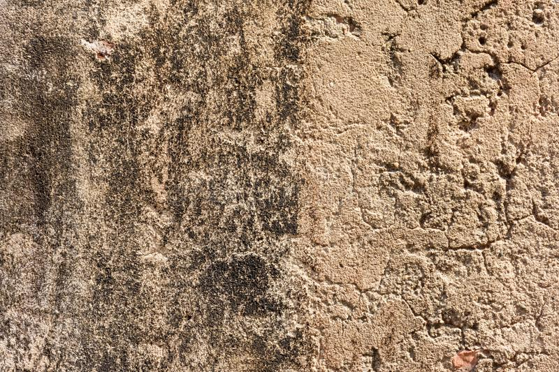 Old  gray cement or concrete wall. Grunge plastered stucco  textured background royalty free stock photography